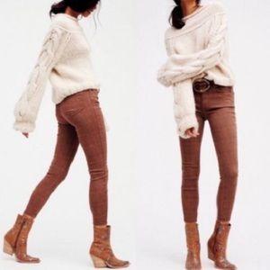 Free People   Payton Isabel Jacquard Skinny Jeans